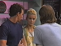 Stephen Gottlieb, Phoebe Bright, Cameron Hudson in Neighbours Episode 1869
