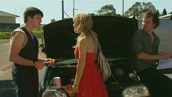 Chris Pappas, Natasha Williams, Lucas Fitzgerald in Neighbours Episode 6338