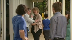 Aidan Foster, Karl Kennedy, Jessica Girwood, Rhys Lawson in Neighbours Episode 6343