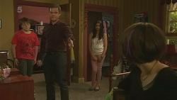Callum Jones, Paul Robinson, Rani Kapoor, Sophie Ramsay in Neighbours Episode 6343