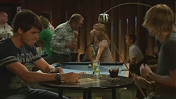 Chris Pappas, Karl Kennedy, Natasha Williams, Andrew Robinson in Neighbours Episode 6368