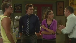 Kyle Canning, Rhys Lawson, Jade Mitchell, Karl Kennedy in Neighbours Episode 6373
