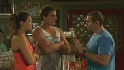 Jade Mitchell, Kyle Canning, Toadie Rebecchi in Neighbours Episode 6398