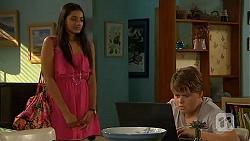 Rani Kapoor, Callum Jones in Neighbours Episode 6413
