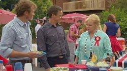 Captain Troy Miller, Paul Robinson, Karl Kennedy, Sheila Canning in Neighbours Episode 6417