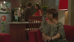 Lucas Fitzgerald, Vanessa Villante, Sara Stone in Neighbours Episode 6429