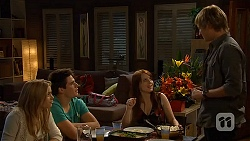 Natasha Williams, Chris Pappas, Summer Hoyland, Andrew Robinson in Neighbours Episode 6435