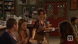 Toadie Rebecchi, Sonya Mitchell, Vanessa Villante, Jade Mitchell in Neighbours Episode 6438