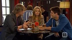 Andrew Robinson, Natasha Williams, Chris Pappas in Neighbours Episode 6438