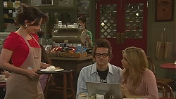 Vanessa Villante, Ed Lee, Natasha Williams in Neighbours Episode 6442