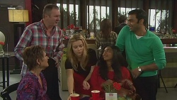 Susan Kennedy, Karl Kennedy, Natasha Williams, Priya Kapoor, Ajay Kapoor in Neighbours Episode 6444