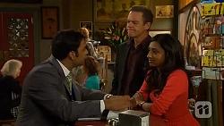 Ajay Kapoor, Paul Robinson, Priya Kapoor in Neighbours Episode 6445