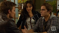 Rhys Lawson, Vanessa Villante, Kyle Canning in Neighbours Episode 6445