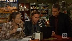 Sonya Mitchell, Lucas Fitzgerald, Paul Robinson in Neighbours Episode 6446