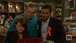 Summer Hoyland, Karl Kennedy, Ajay Kapoor in Neighbours Episode 6450
