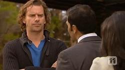 Lucas Fitzgerald, Ajay Kapoor, Priya Kapoor in Neighbours Episode 6452