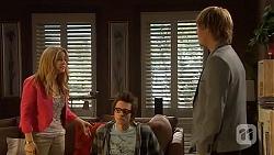 Natasha Williams, Ed Lee, Andrew Robinson in Neighbours Episode 6453