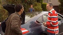 Ajay Kapoor, Rhys Lawson, Karl Kennedy in Neighbours Episode 6456