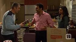 Karl Kennedy, Ajay Kapoor, Priya Kapoor in Neighbours Episode 6463