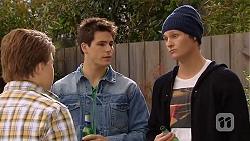 Callum Jones, Chris Pappas, Andrew Robinson in Neighbours Episode 6463