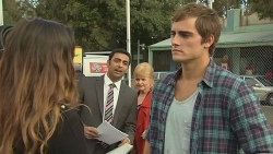 Jade Mitchell, Ajay Kapoor, Sheila Canning, Kyle Canning in Neighbours Episode 6467