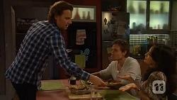 Lucas Fitzgerald, Rhys Lawson, Vanessa Villante in Neighbours Episode 6470
