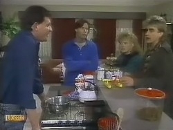 Des Clarke, Mike Young, Sharon Davies, Nick Page in Neighbours Episode 0802