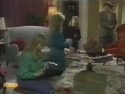 Jane Harris, Sharon Davies, Bronwyn Davies, Edith Chubb in Neighbours Episode 0803