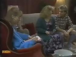 Jane Harris, Sharon Davies, Nick Page in Neighbours Episode 0804