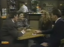 Paul Robinson, Gail Robinson, Penelope Porter, Des Clarke in Neighbours Episode 0805