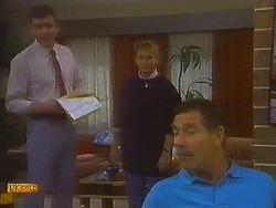 Des Clarke, Bronwyn Davies, Malcolm Clarke in Neighbours Episode 0847