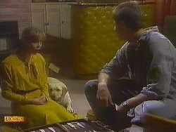 Jane Harris, Bouncer, Joe Mangel in Neighbours Episode 0848