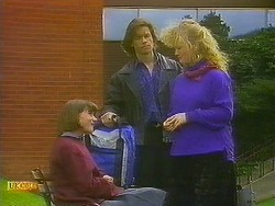 Jessie Ross, Mike Young, Sharon Davies in Neighbours Episode 0848