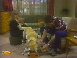 Jane Harris, Bouncer, Joe Mangel in Neighbours Episode 0849