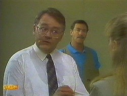 Harold Bishop, Malcolm Clarke, Jane Harris in Neighbours Episode 0849