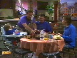 Jamie Clarke, Malcolm Clarke, Des Clarke, Mike Young in Neighbours Episode 0851