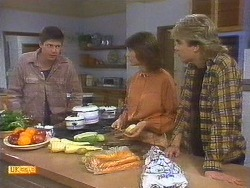 Joe Mangel, Beverly Marshall, Nick Page in Neighbours Episode 0852