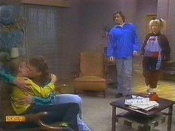Bronwyn Davies, Henry Ramsay, Mike Young, Sharon Davies in Neighbours Episode 0853