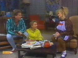 Henry Ramsay, Bronwyn Davies, Sharon Davies in Neighbours Episode 0853