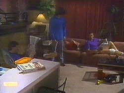Des Clarke, Mike Young, Malcolm Clarke in Neighbours Episode 0853