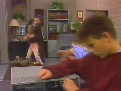 Katie Landers, Skinner, Todd Landers in Neighbours Episode 0858