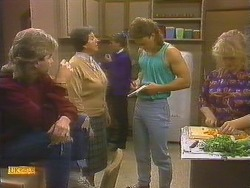Nick Page, Edith Chubb, Bronwyn Davies, Henry Ramsay, Sharon Davies in Neighbours Episode 0859