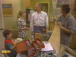 Toby Mangel, Jane Harris, Jim Robinson, Joe Mangel in Neighbours Episode 0859