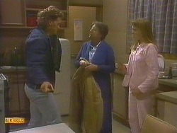 Henry Ramsay, Edith Chubb, Bronwyn Davies in Neighbours Episode 0859