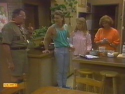 Harold Bishop, Henry Ramsay, Bronwyn Davies, Madge Bishop in Neighbours Episode 0860
