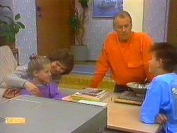Katie Landers, Beverly Marshall, Jim Robinson, Todd Landers in Neighbours Episode 0861
