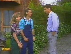 Bronwyn Davies, Henry Ramsay, Des Clarke in Neighbours Episode 0861