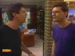 Joe Mangel, Des Clarke  in Neighbours Episode 0877
