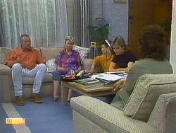 Jacinta Harvey, Helen Daniels, Todd Landers, Nick Page, Beverly Marshall in Neighbours Episode 0878
