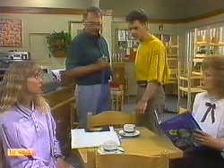 Jane Harris, Harold Bishop, Paul Robinson, Madge Bishop in Neighbours Episode 0879